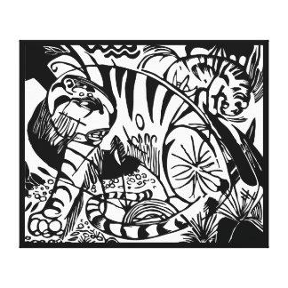 Franz Marc - tigre preto e branco Impressão Em Tela