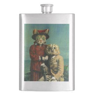 Frasco De Bebida A coruja e a garrafa do prêmio do gato do bichano