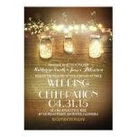 frascos e luzes de pedreiro rústicos que wedding convite 12.7 x 17.78cm