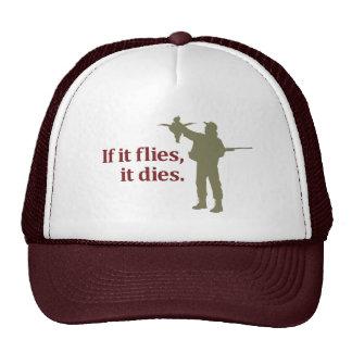 Frase da caça do pássaro: Se voa morre, Boné