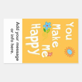 Frase inspirador da tipografia - laranja adesivo retangular