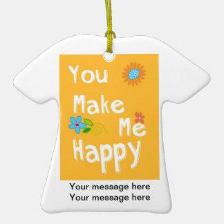 Frase inspirador da tipografia - laranja ornamento de cerâmica camiseta