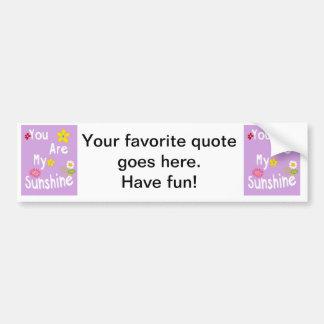 Frase inspirador da tipografia - lavanda Pastel Adesivo Para Carro
