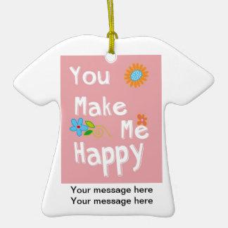 Frase inspirador da tipografia - rosa ornamento de cerâmica camiseta