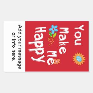 Frase inspirador da tipografia - vermelho adesivo retangular