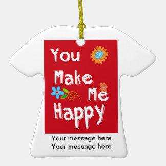 Frase inspirador da tipografia - vermelho ornamento de cerâmica camiseta