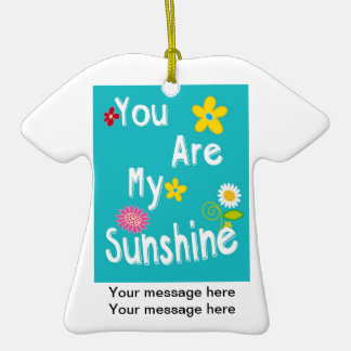 Frases inspiradores da tipografia - azul ornamento de cerâmica camiseta