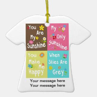 Frases inspiradores da tipografia - colagem ornamento de cerâmica camiseta