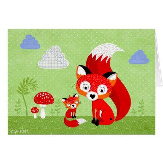 """Freddi raposa"" cartão"