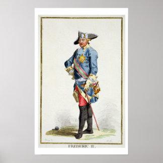 Frederick II os grande 1712-86 reis de Prússia Pôsteres