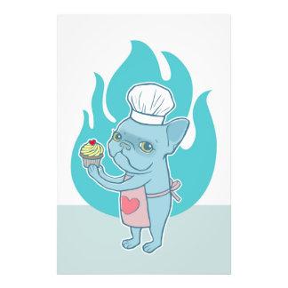 Frenchie azul e seu cupcake mágico do amor impressão de foto