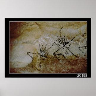 Friso dos cervos, c.17000 BC Posters