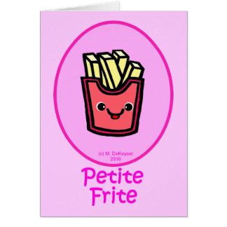 - Fritada pequena cor-de-rosa - batatas fritas Cartão