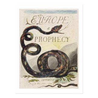 """Frontispício de """"Europa. Uma profecia"""", 1794 Cartão Postal"""