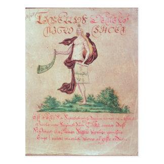 Frontispiece 'a um livro pequeno de Love Cartão Postal