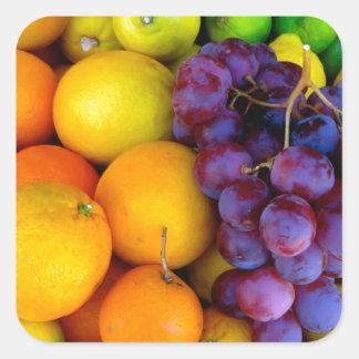 Fruta Adesivo Quadrado