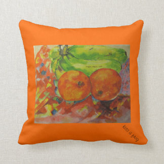 Fruta alaranjada brilhante - travesseiro almofada