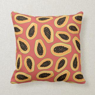 Fruta da papaia almofada