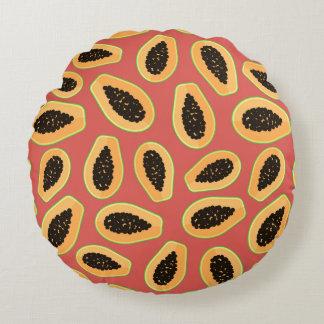 Fruta da papaia almofada redonda