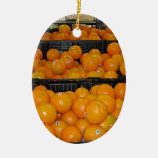 Fruta do jardim zoológico 029.JPG-tomato de Ornamento De Cerâmica Oval