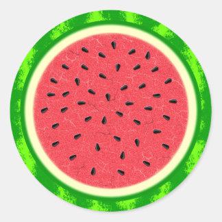 Fruta do verão da fatia da melancia com casca adesivo