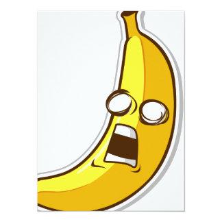 Fruta engraçada com expressão - banana convites