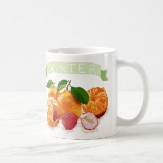 Frutas coloridas do inverno caneca de café