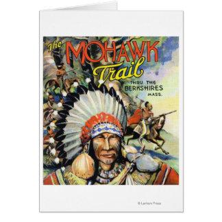 Fuga do Mohawk, opinião indianos do Mohawk Cartão Comemorativo
