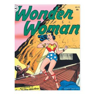 Fuga invisível da mulher maravilha cartão postal