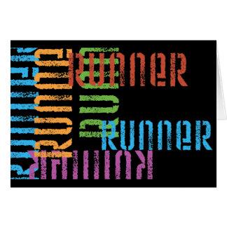 Fuja o cartão temático do corredor da variedade