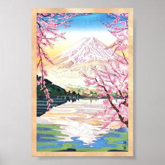 Fuji do hanga japão da canela de Kawaguchi Okada K Poster
