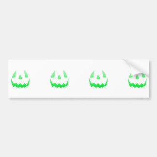 Fulgor verde o Dia das Bruxas feliz Adesivo Para Carro