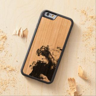 Fumo preto capa de cerejeira bumper para iPhone 6