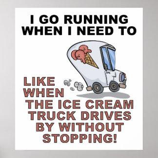 Funcionamento para o poster engraçado do gelado