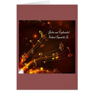 Funcionarios e notas da música cartão comemorativo
