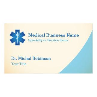 Funcionarios médicos de Asclepius - azul de creme Cartão De Visita