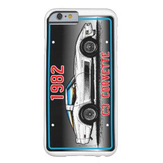 Fundo 1982 das Arte-Cinzas da matrícula de C3 Capa Barely There Para iPhone 6