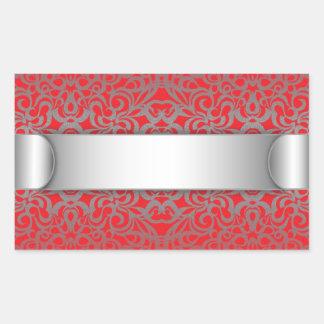 Fundo abstrato floral da etiqueta adesivo retangular