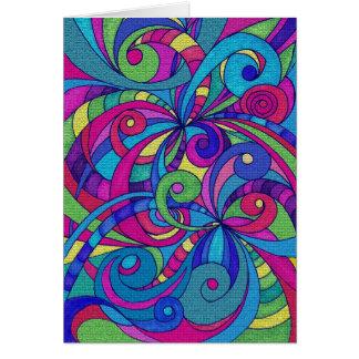 Fundo abstrato floral do cartão