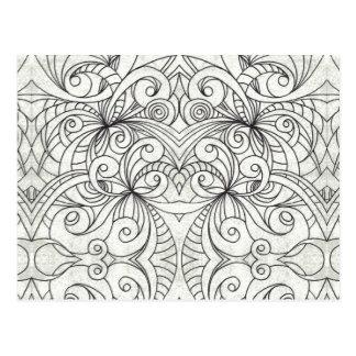 Fundo abstrato floral do cartão cartoes postais