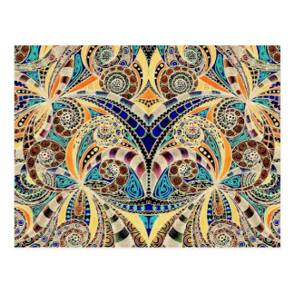 Fundo abstrato floral do cartão cartão postal
