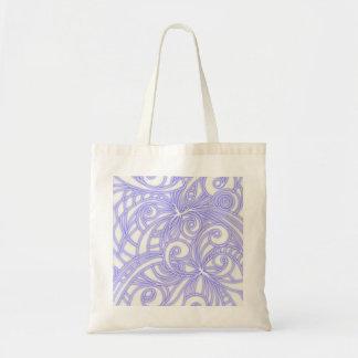 Fundo abstrato floral do saco sacola tote budget