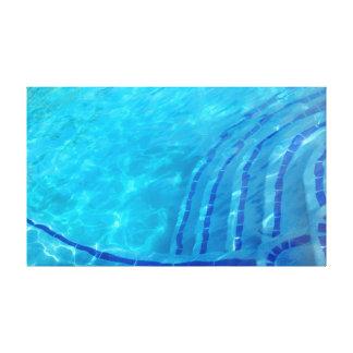 Fundo azul abstrato impressão em tela