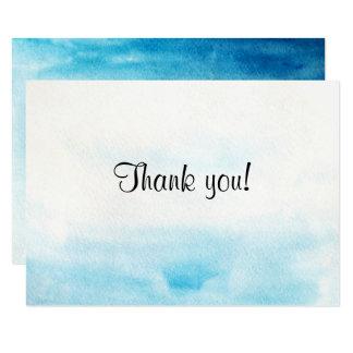 """Fundo azul """"cartões de agradecimentos """" da convite 8.89 x 12.7cm"""