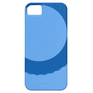 fundo azul do azul do círculo iPhone 5 capas