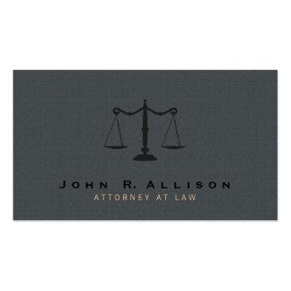 Fundo cinzento da textura da escala de justiça do cartão de visita