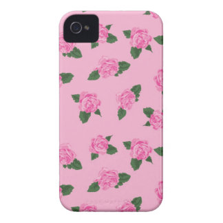 Fundo cor-de-rosa das flores cor-de-rosa femininos capinha iPhone 4