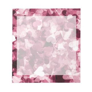 Fundo cor-de-rosa macio dos corações de Kawaii Caderno