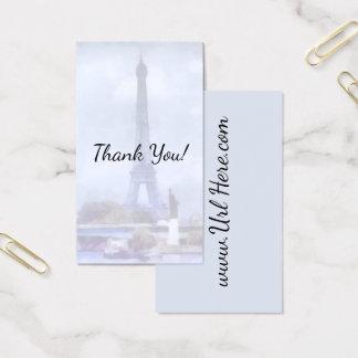 Fundo da aguarela de Paris do vintage da torre Cartão De Visitas