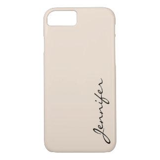Fundo da cor da amêndoa capa iPhone 7